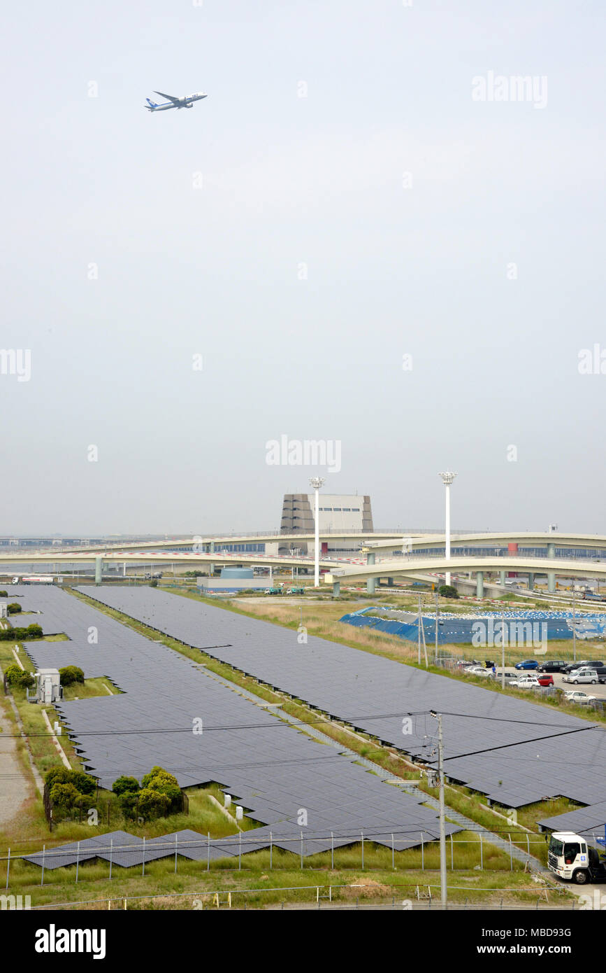 Japan: Kawasaki Solar Power Plant in Kanagawa Prefecture - Stock Image