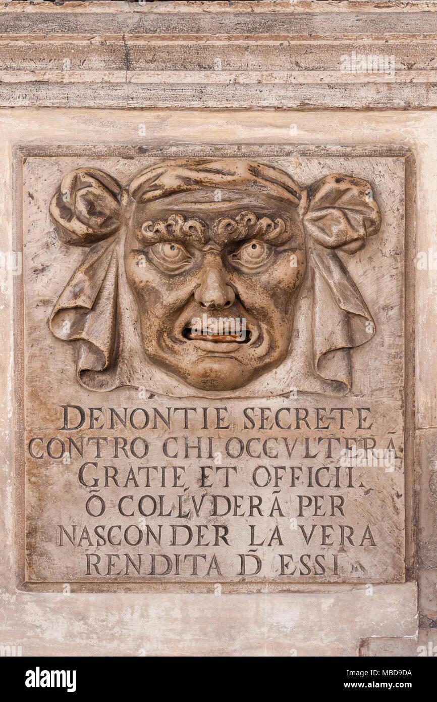 Italy, Venice: the Bocca di Leone in the Doge's Palace Stock Photo