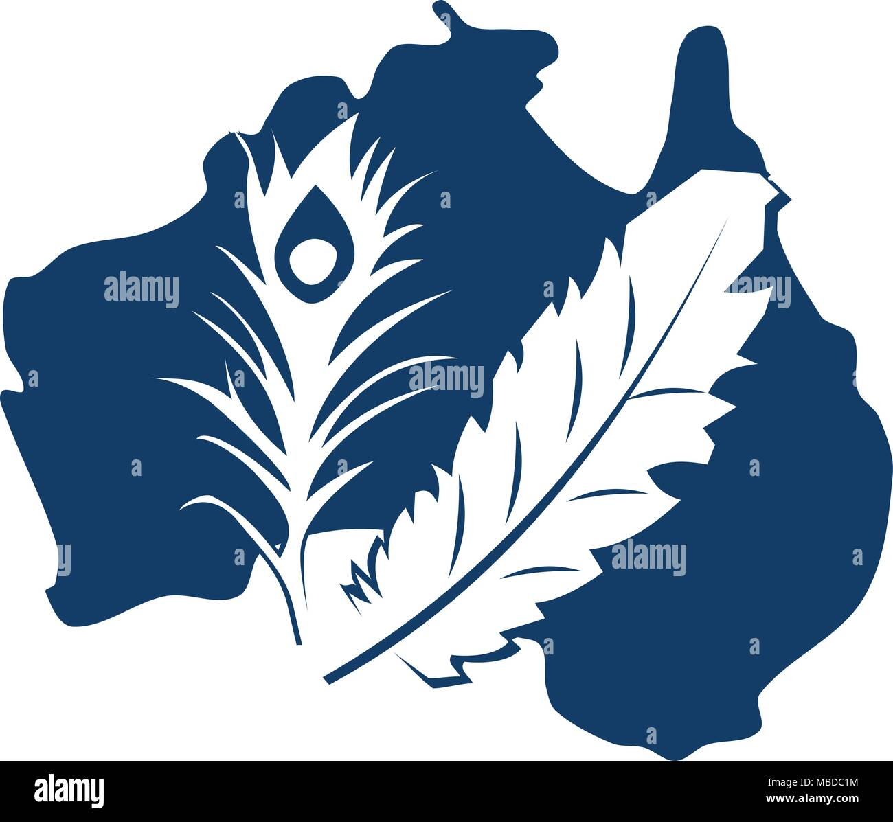 Australian Dusted Feather Super Store - Stock Vector