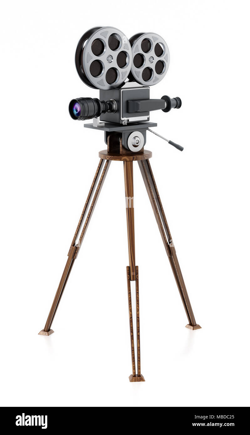 Old Camera On Wooden Tripod Stock Photos Amp Old Camera On
