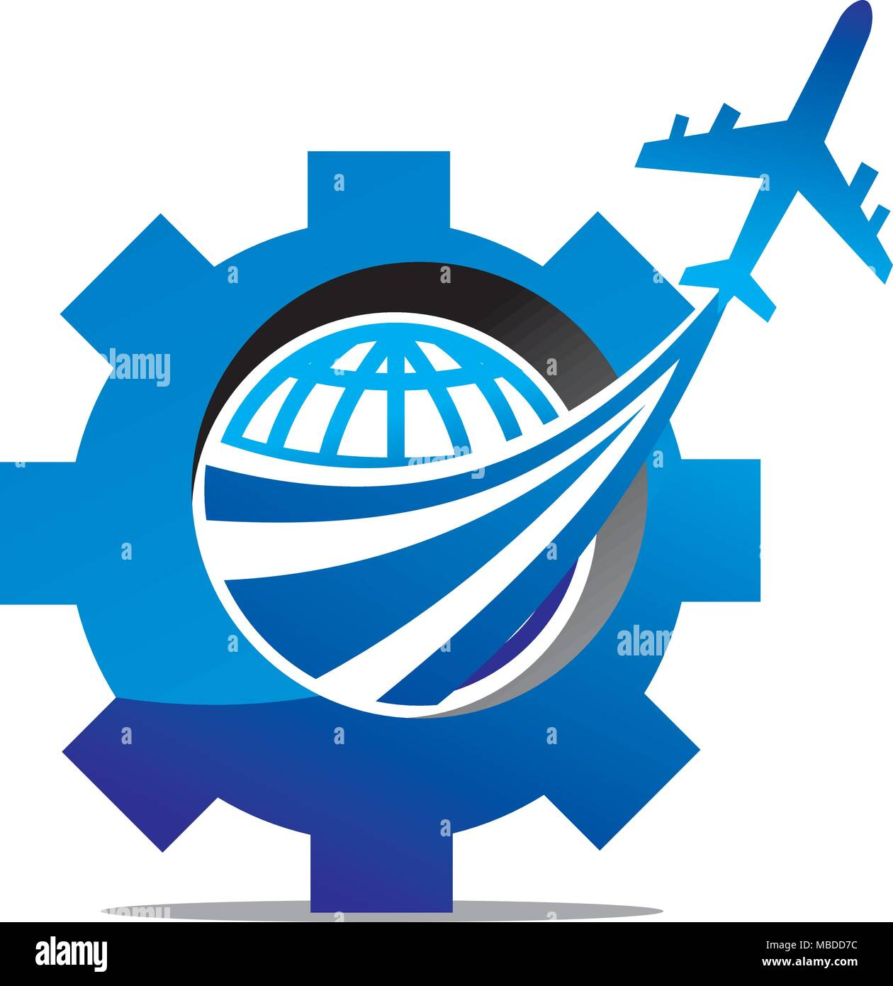 Aero Technology Logo Design Template Vector - Stock Vector