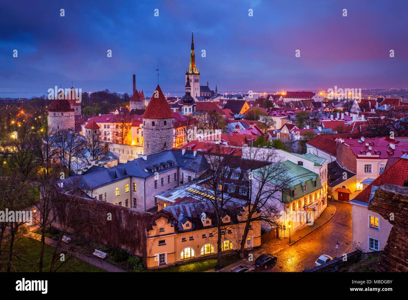 Tallinn Medieval Old Town, Estonia - Stock Image