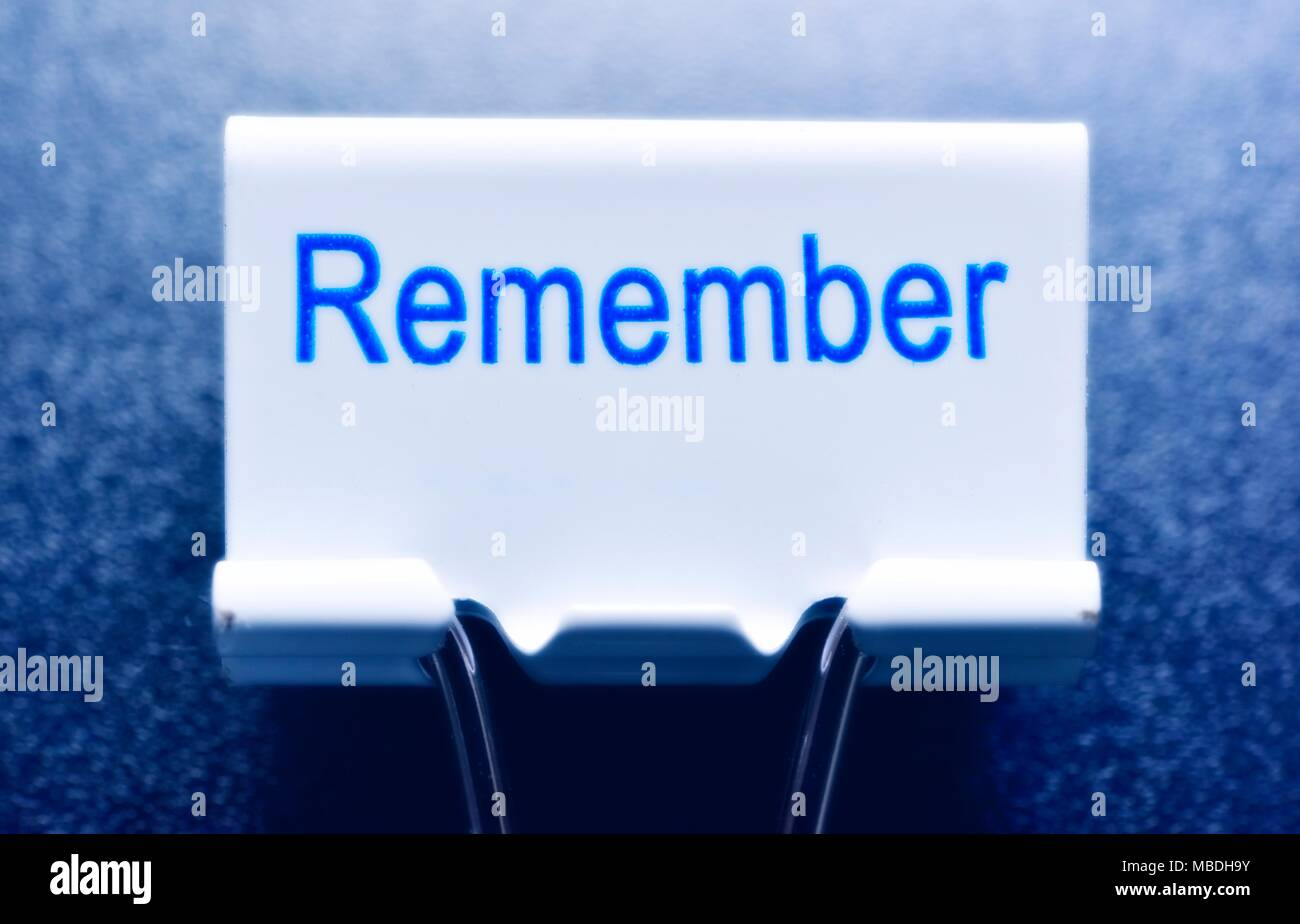 Remember concept - Stock Image