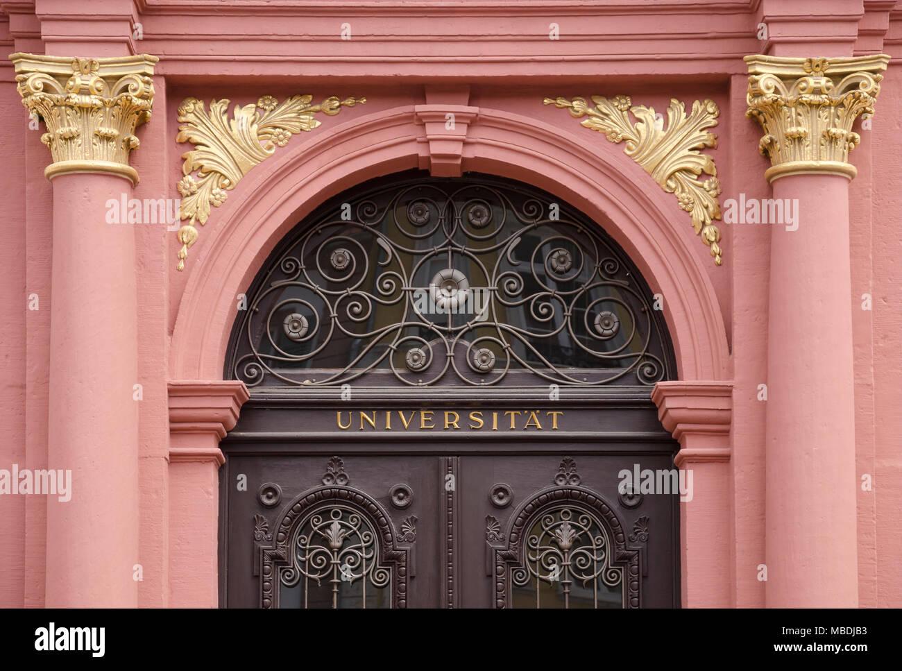 Universität, Heidelberg, Baden-Württemberg, Deutschland, Europa - Stock Image