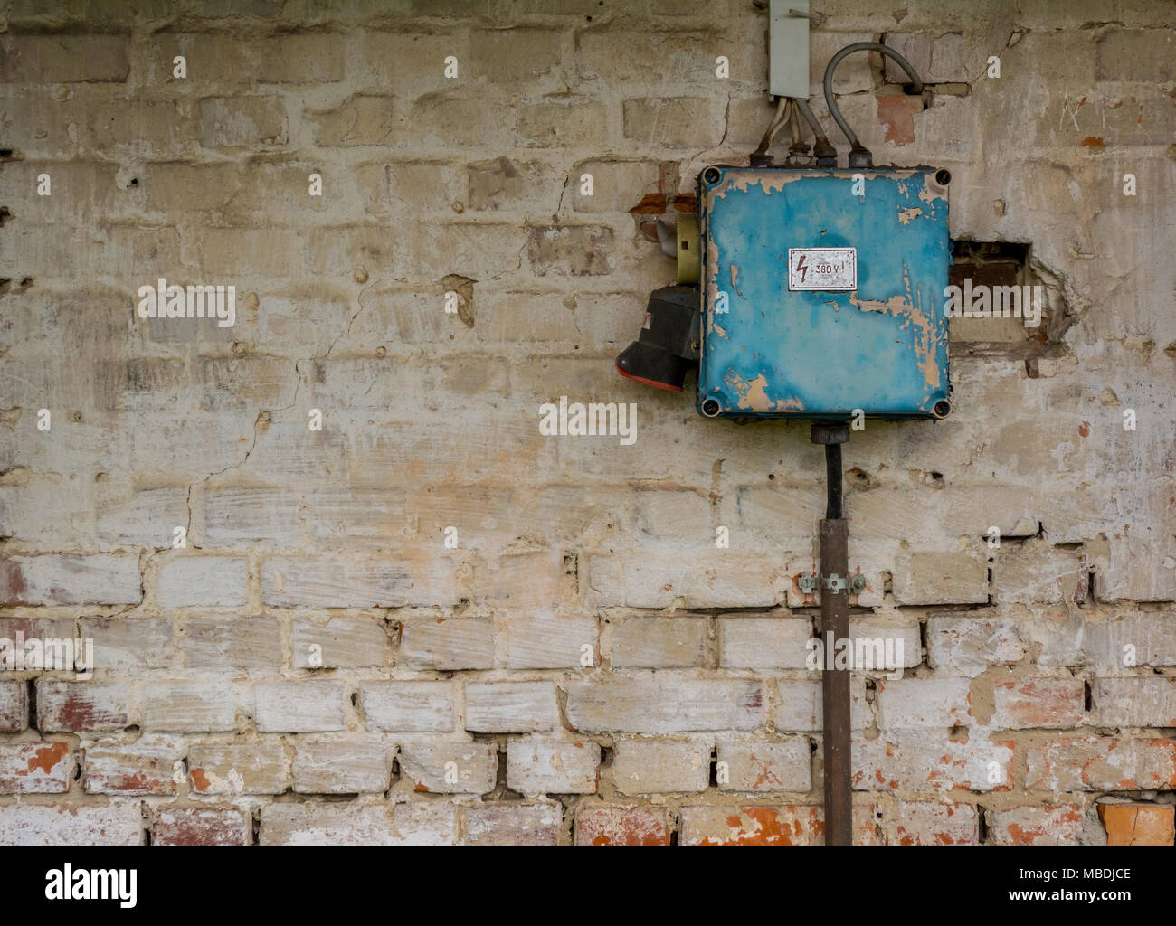 old electrical fuse box stock photos & old electrical fuse box stock stainless steel texture old bad rusty switch box on weathered wall stock image
