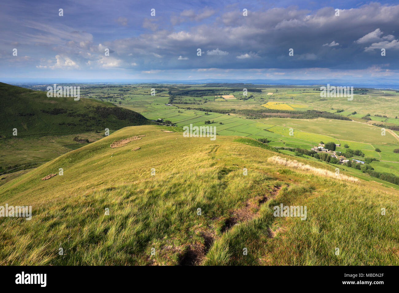 Summit of Souther Fell, Lake District National Park, Cumbria County, England, UK - Stock Image