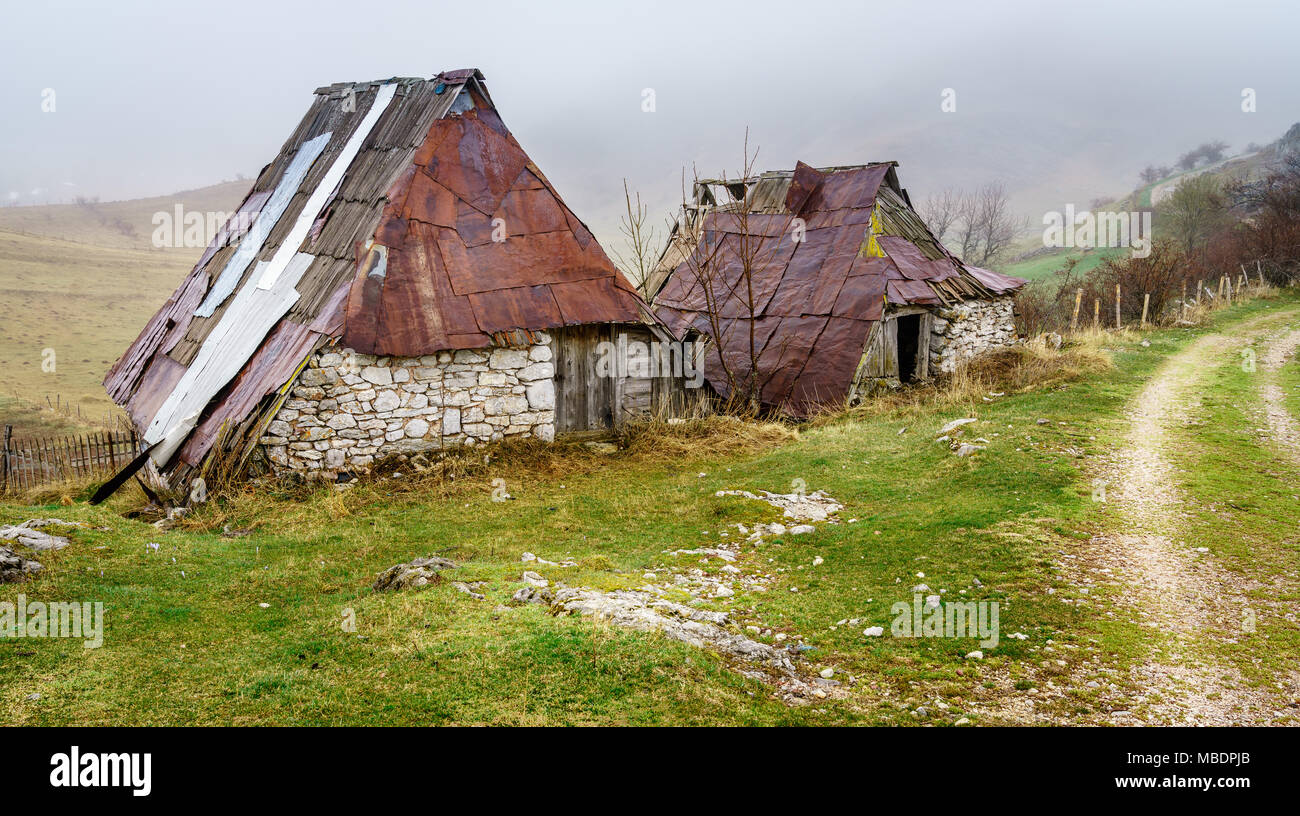 An old village in the mountains of Bosnia-Herzegovina - Stock Image