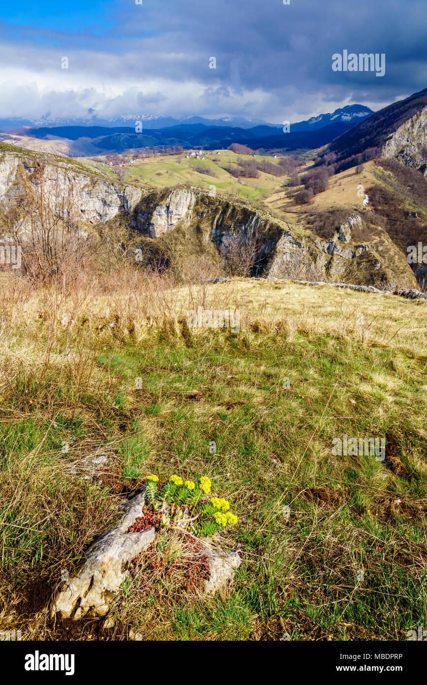 Scenic view of Dinaric Alps in Bosnia-Herzegovina near Sarajevo - Stock Image