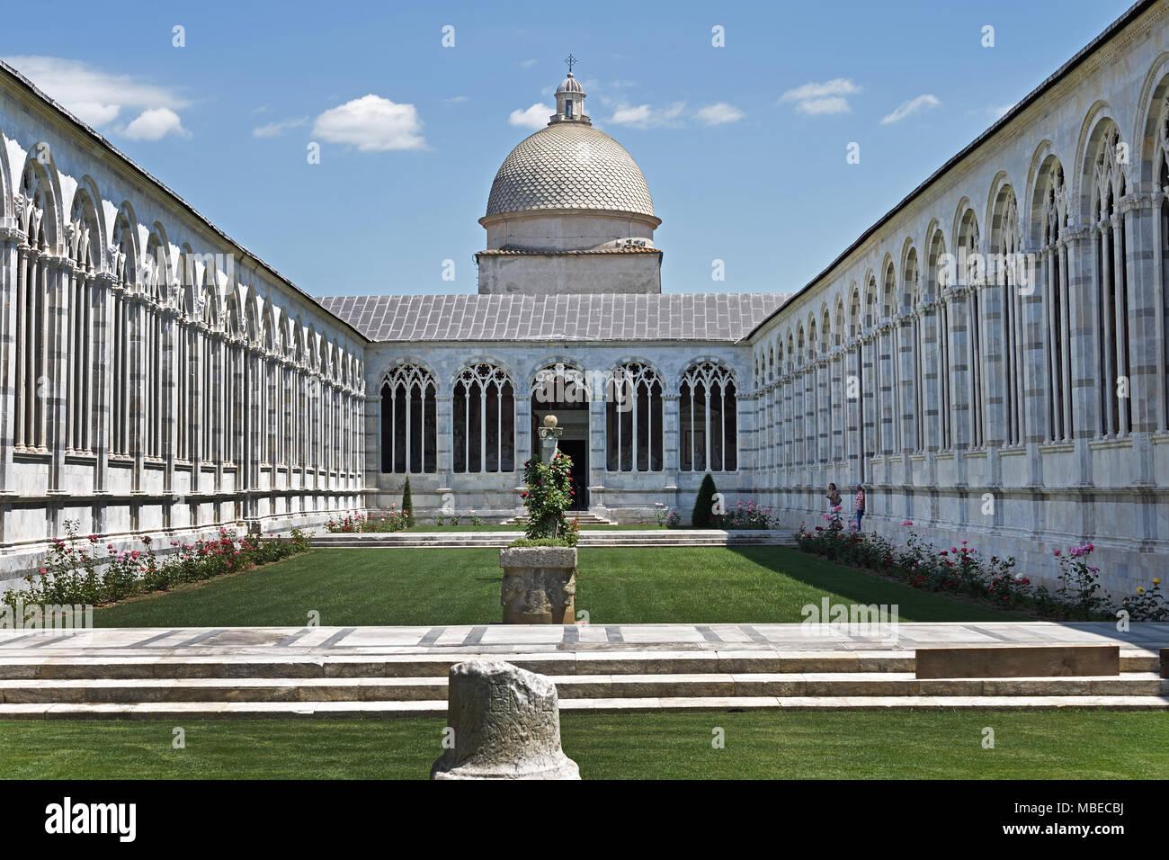 Cimitero di Campo Santo - Campo Santo Cemetery 1277 by Giovanni di Simone 13th Century Italy Italian Pisa - Stock Image