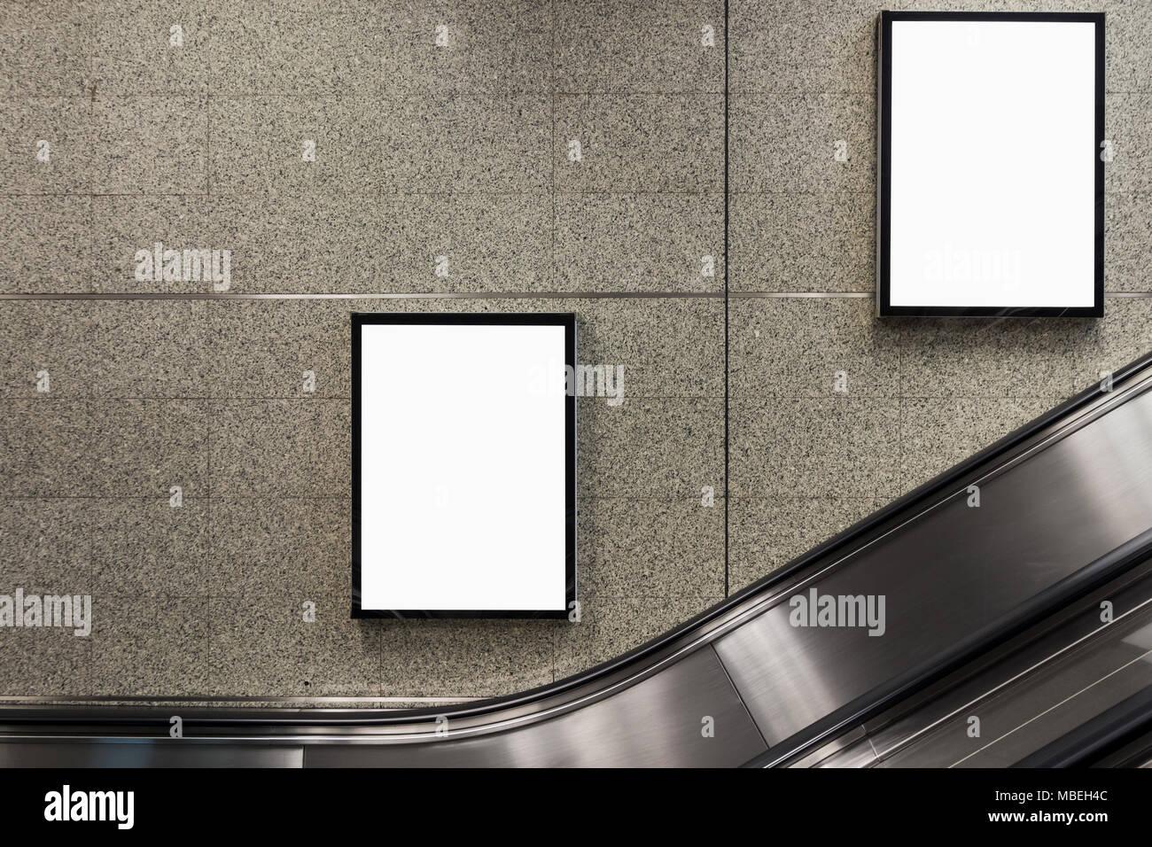 Underground Escalator Advertising Stock Photos Underground
