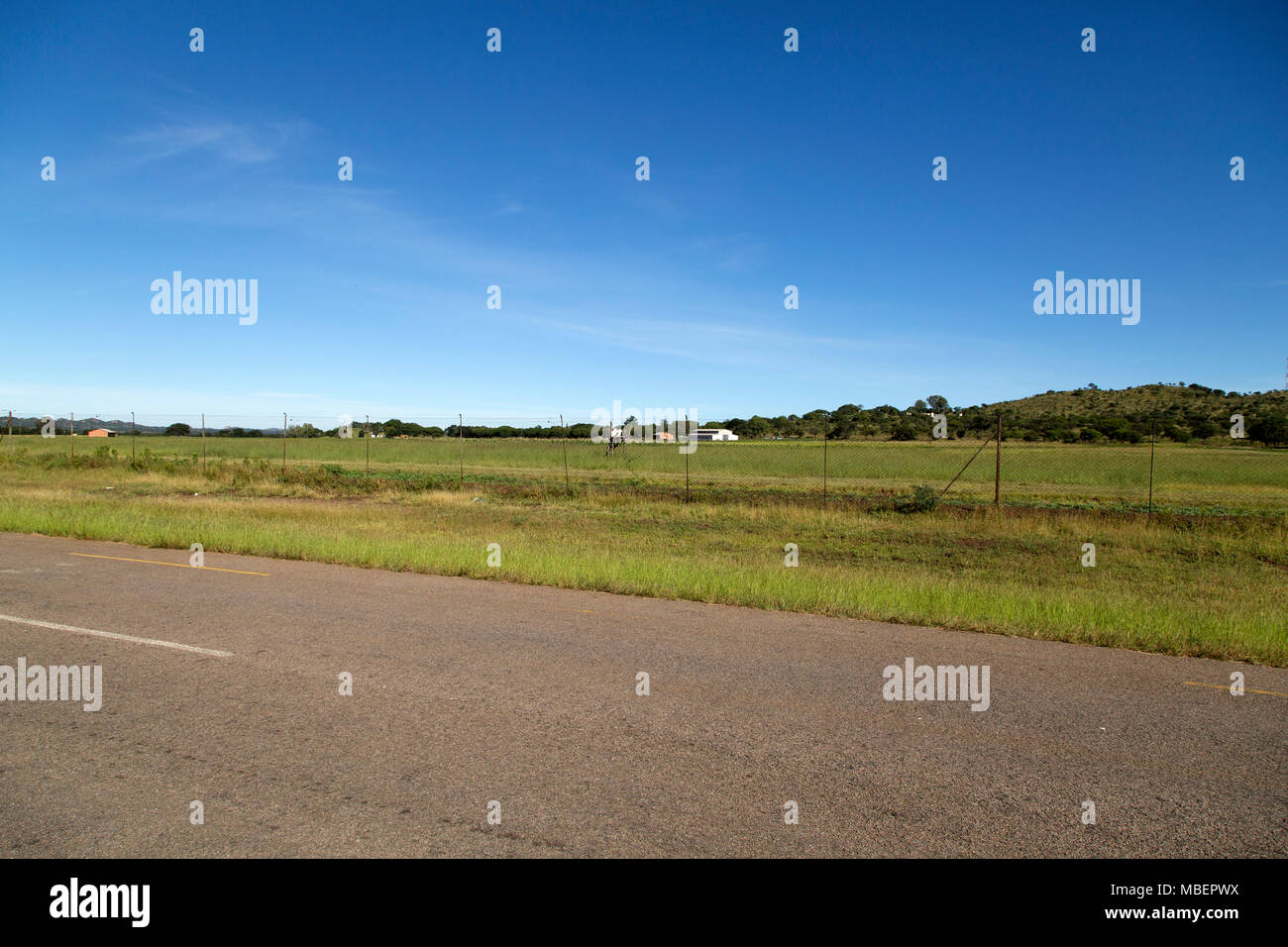 Land that was once owned by Cecil John Rhodes near Matobo National Park in Zimbabwe. Rhodes body was carried to his burial place, inside the park, fro - Stock Image