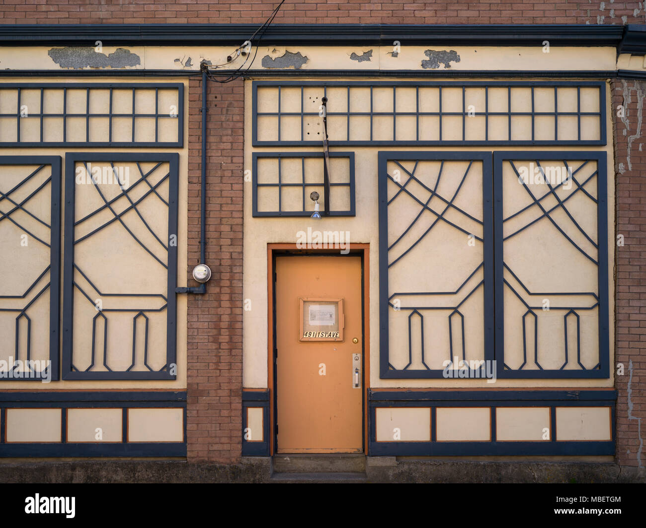 Faade of building, Fernie, British Columbia, Canada - Stock Image