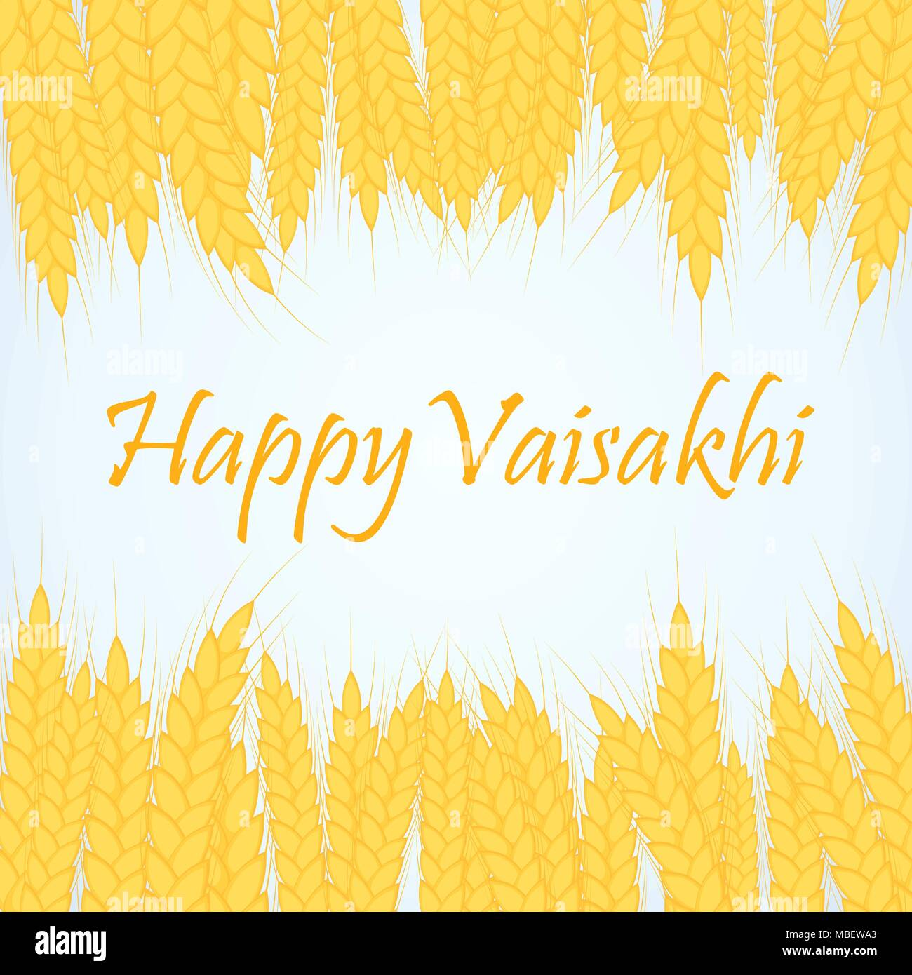 illustration of Happy Vaisakhi Punjabi spring harvest festival - Stock Vector