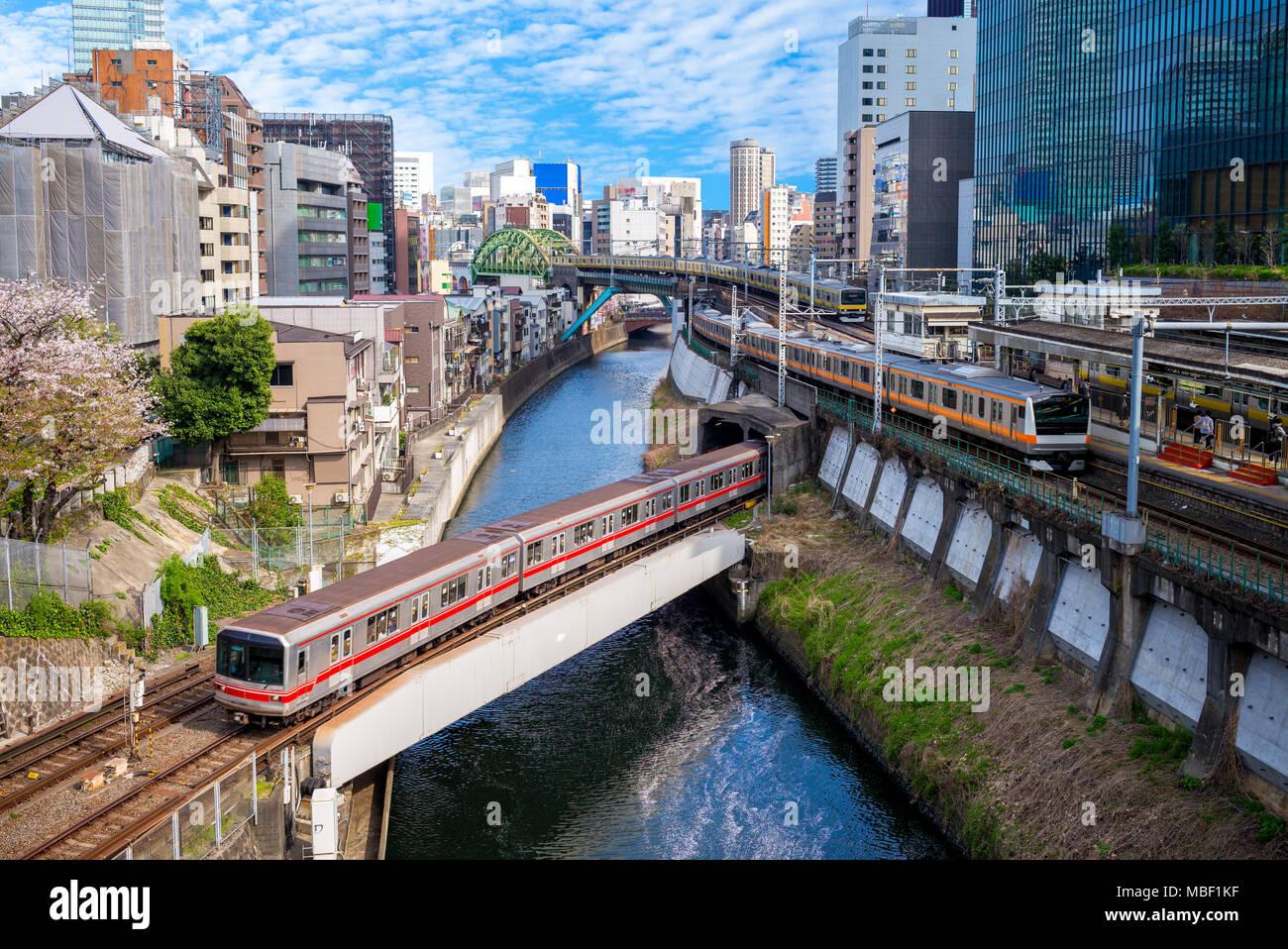 metro system of tokyo city, japan - Stock Image