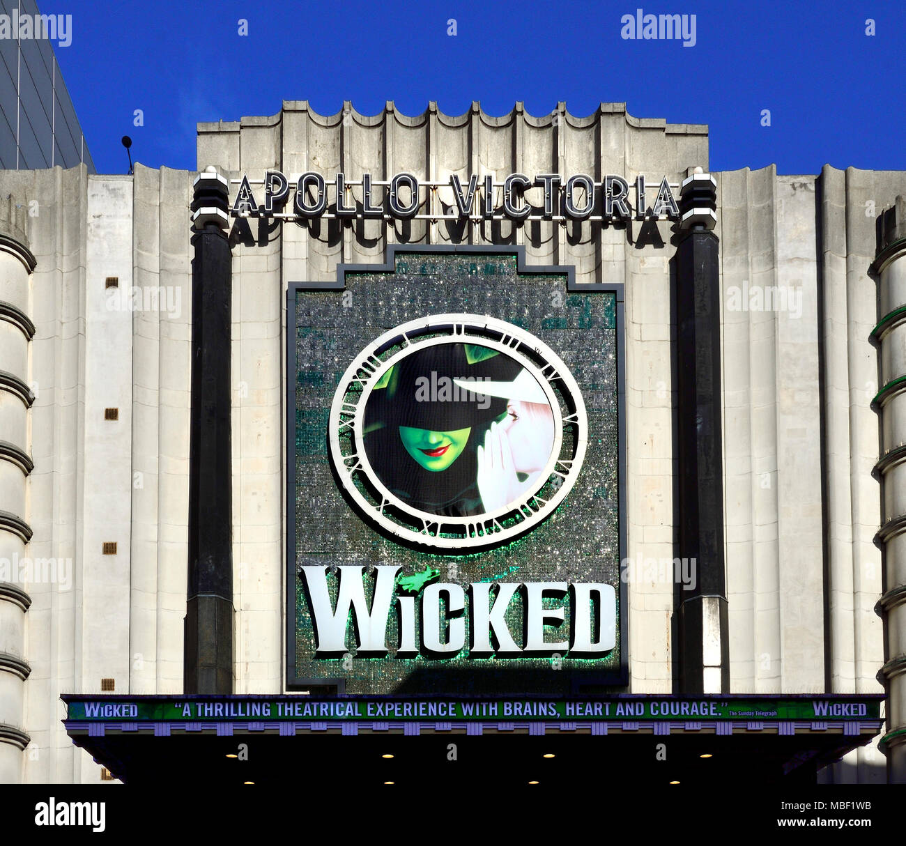 London, England, UK. Wicked at the Apollo Victoria theatre - Stock Image