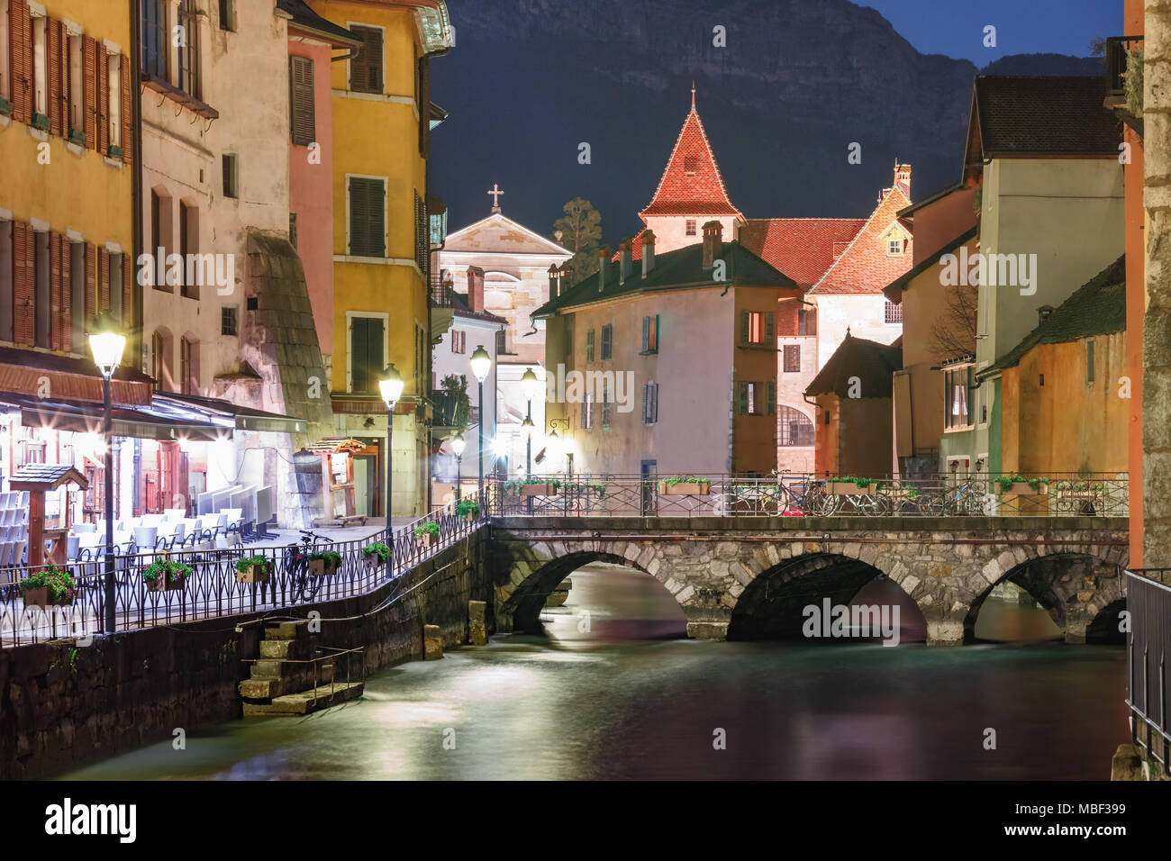 Annecy, called Venice of the Alps, France - Stock Image
