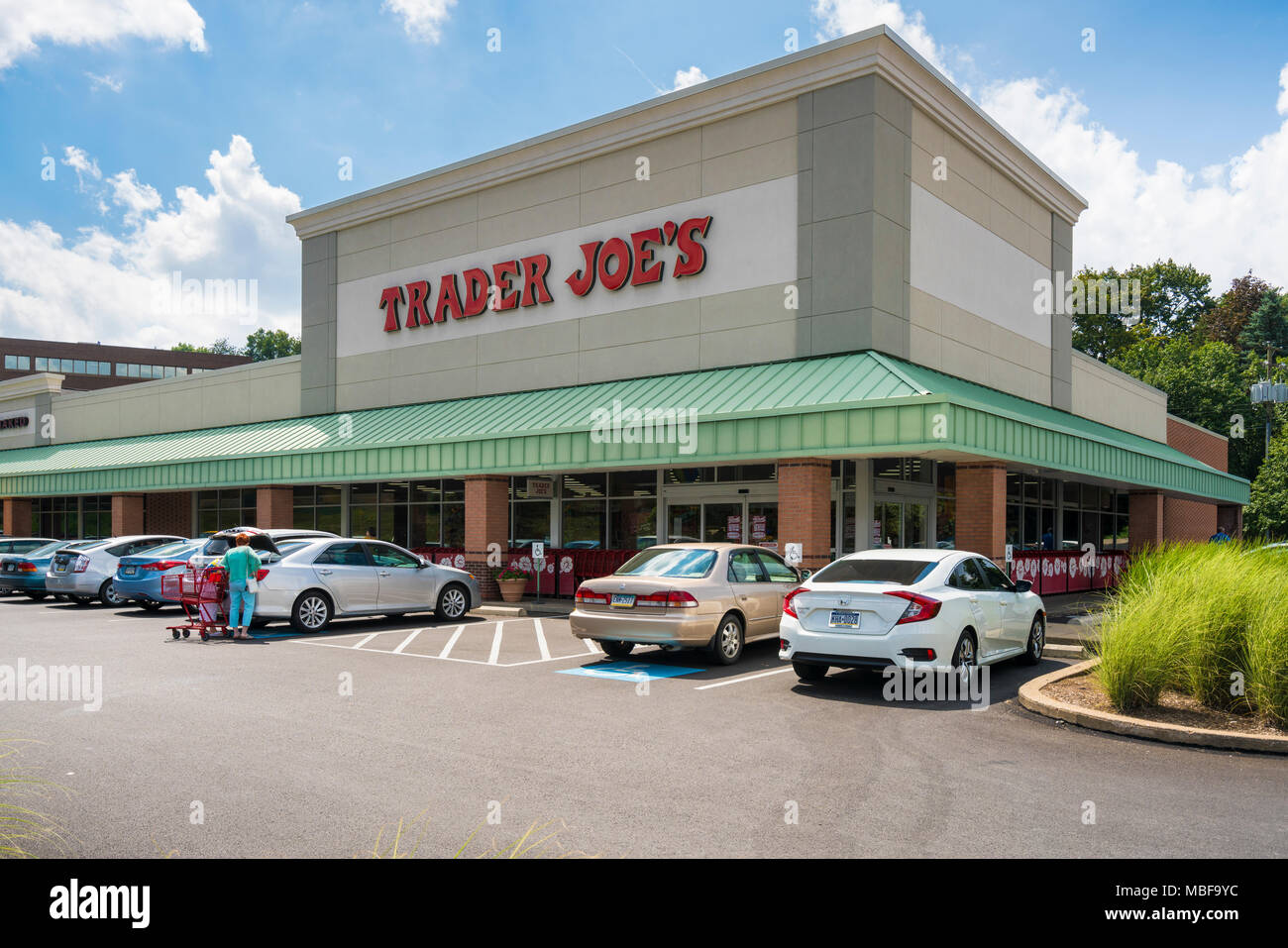 Trader Joe's grocery supermarket, USA. - Stock Image