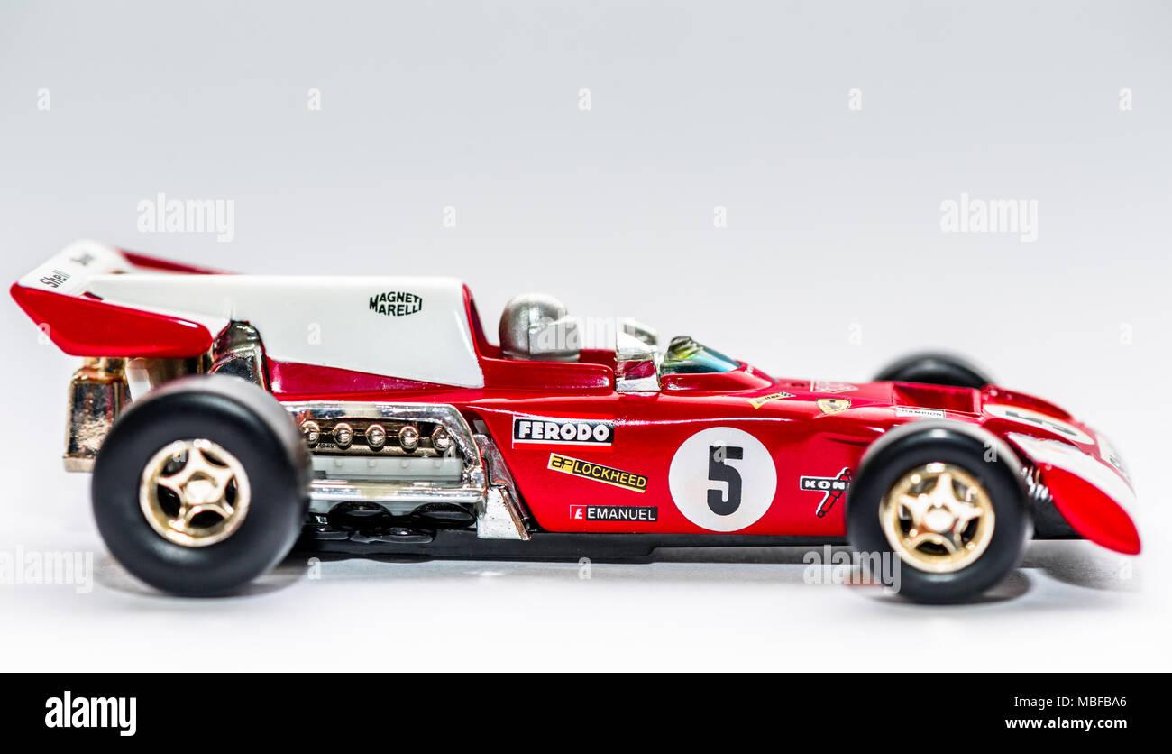 Ferrari 312B2 F12 car 1.36 scale diecast model Stock Photo