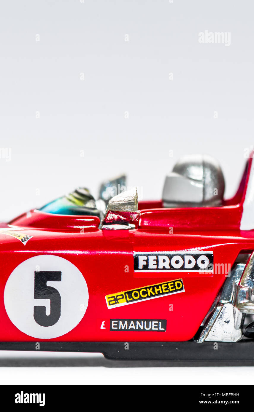 Ferrari 312B2 F12 car 1.36 scale diecast model Stock Photo