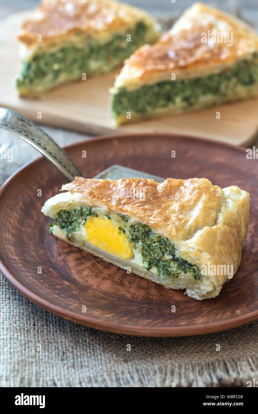 Torta Pascualina - Spinach and Ricotta Tart - Stock Image