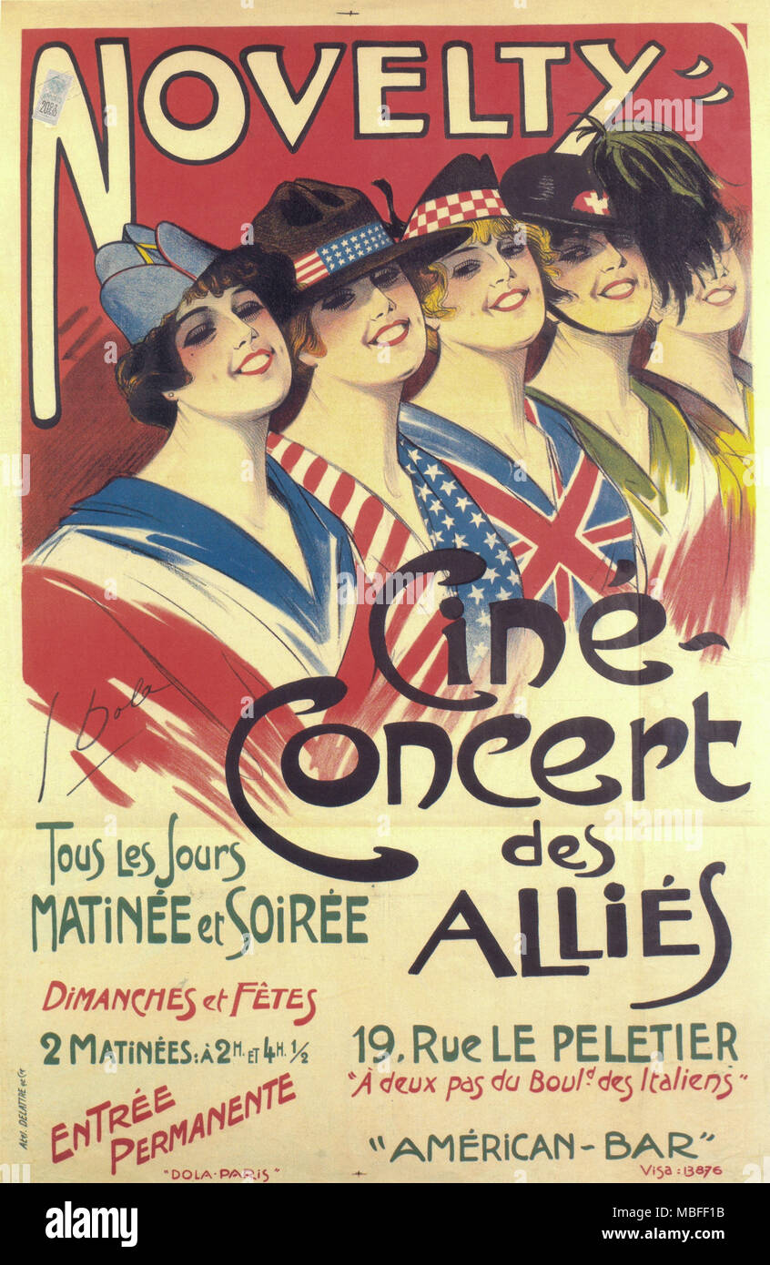 Novelty - Cine Concert des Allies - Stock Image