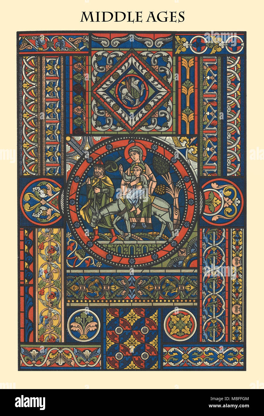 Ornament-MIDDLE AGES - Stock Image