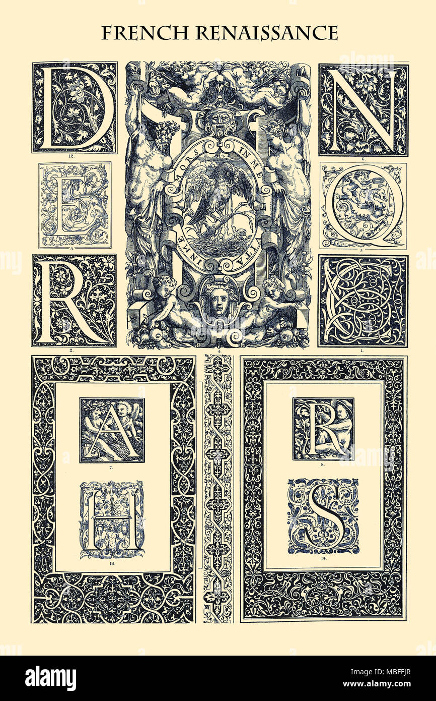Ornament-FRENCH RENAISSANCE - Stock Image