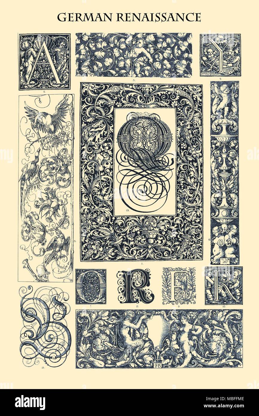 Ornament-GERMAN RENAISSANCE - Stock Image