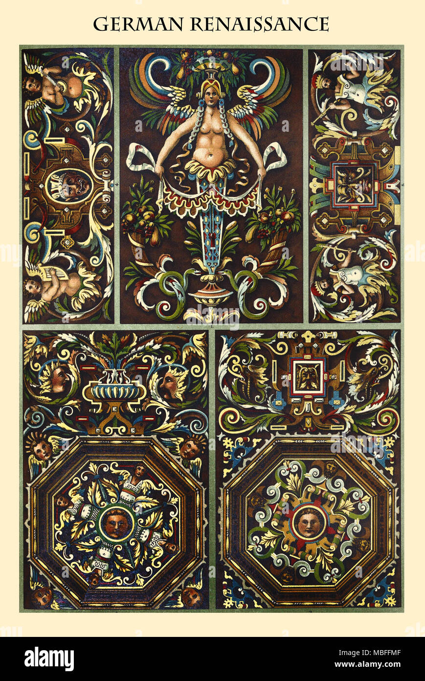 Ornament-GERMAN RENAISSANCE - Stock Image