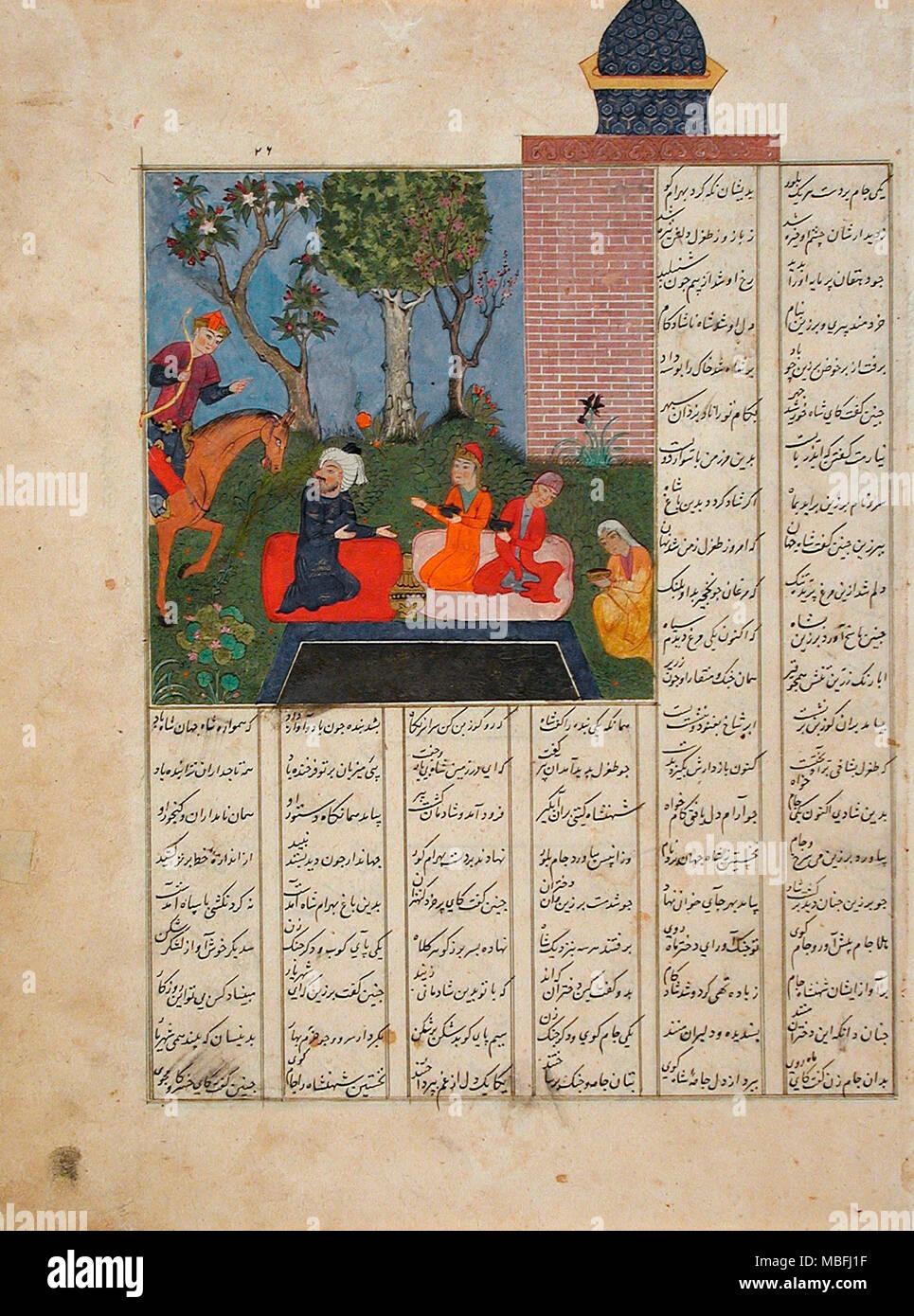Bahram Gur and the Farmer's Family - Stock Image