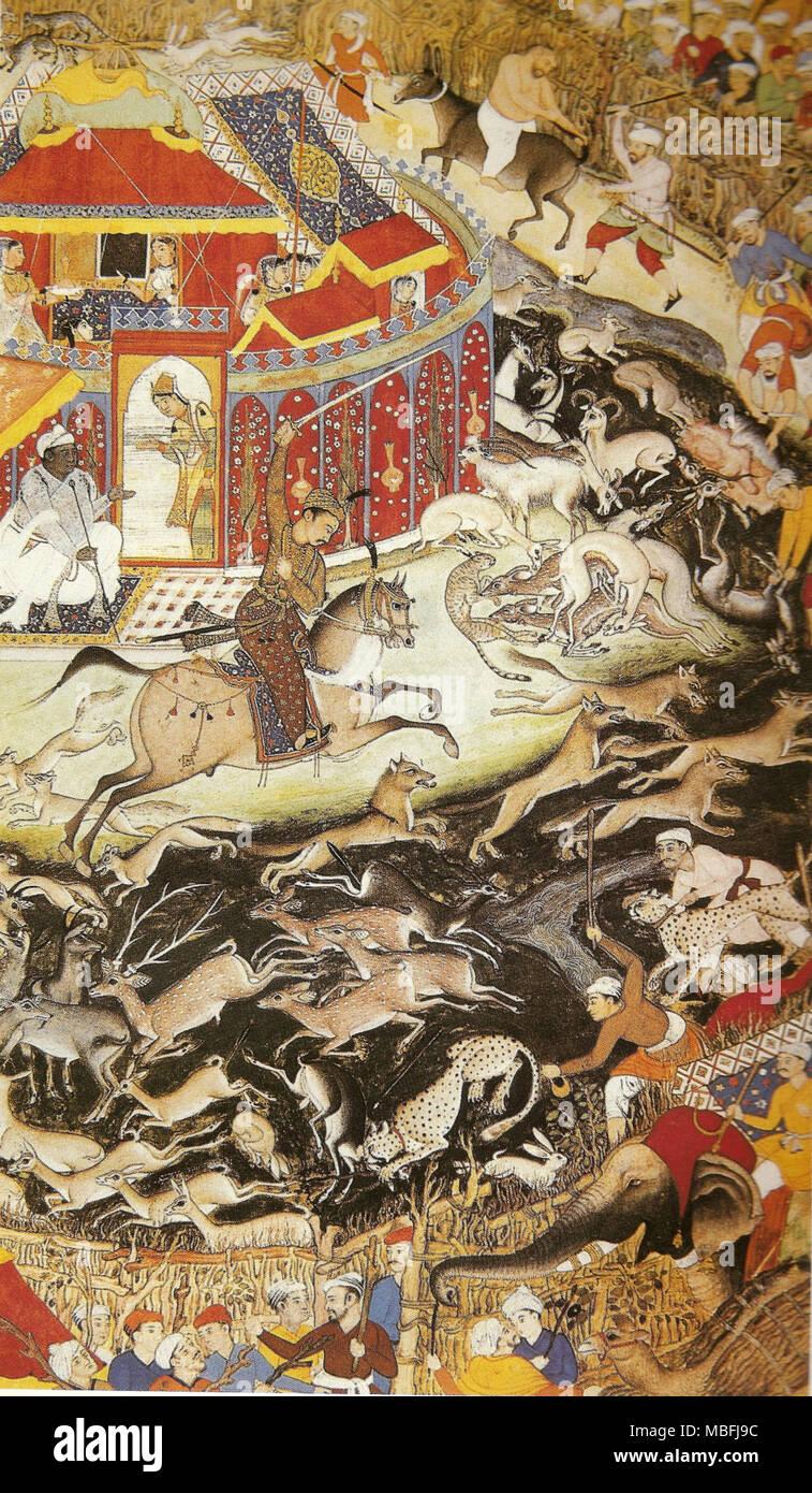 Akbar Hunting with Cheetahs - Stock Image