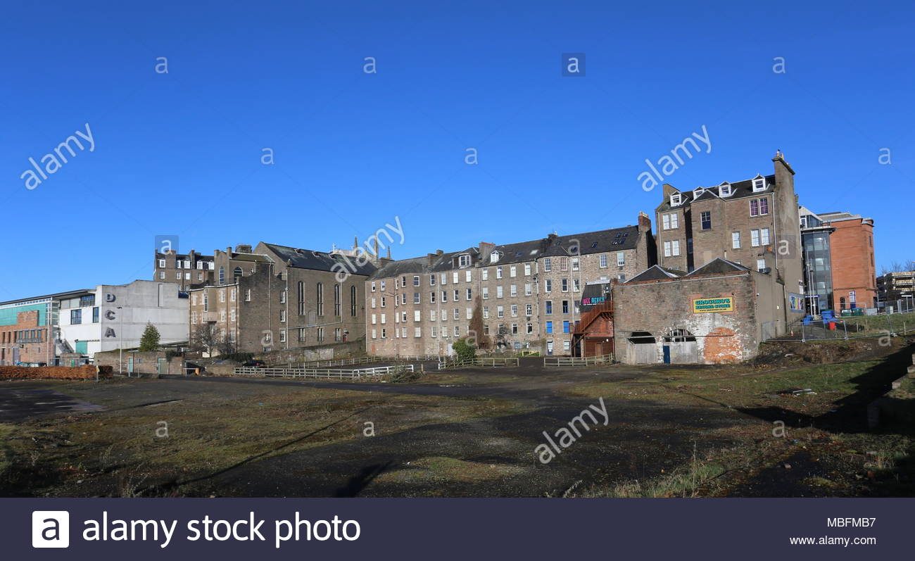Corner of Greenmarket and West Marketgait proposed site for cinema development Dundee Scotland  April 2018 - Stock Image