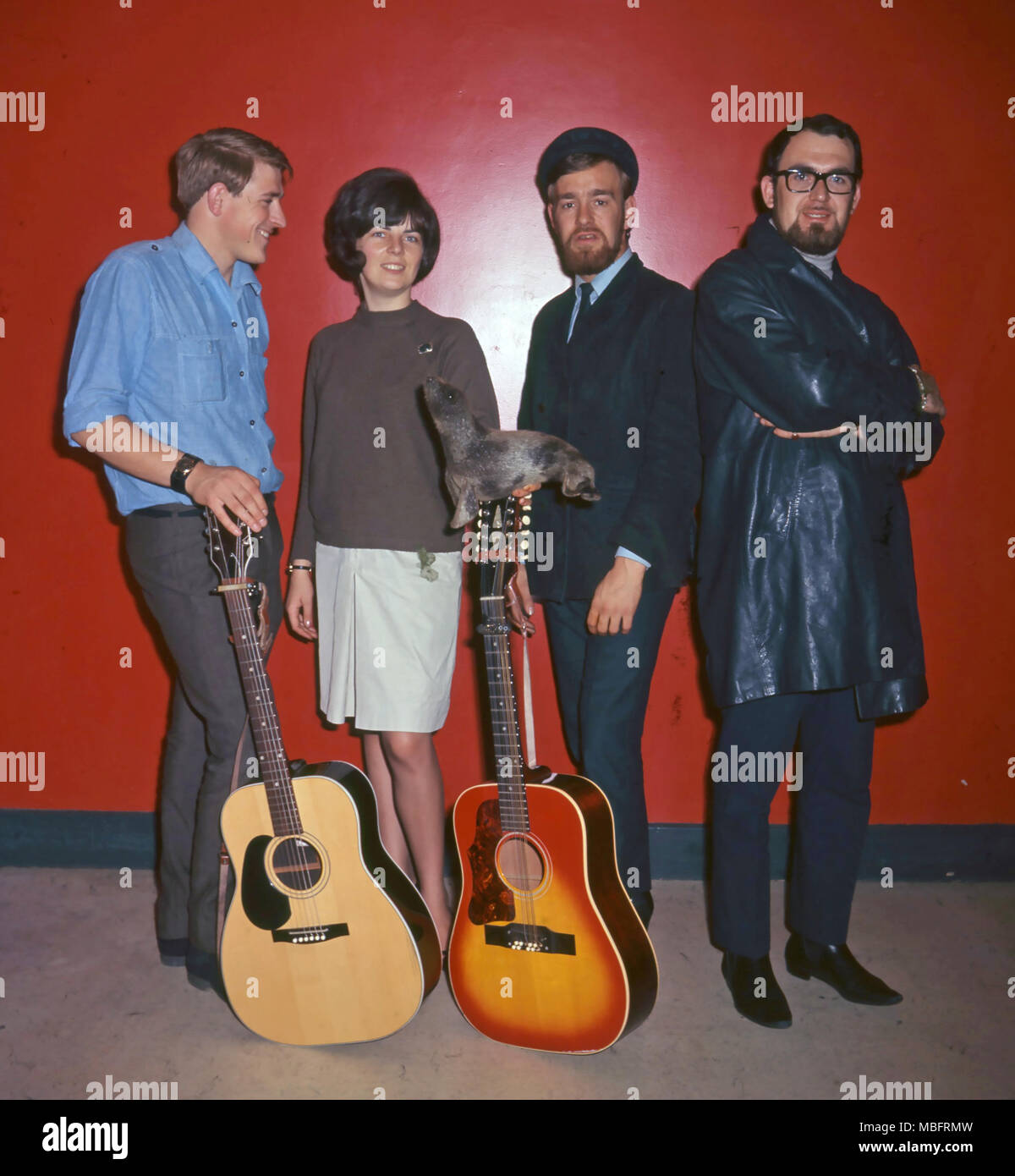THE SILKIE English folk group in September 1965 with vocalist Sylvia Tatler. Photo: Tony Gale - Stock Image