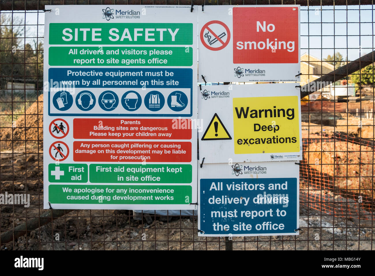 Construction Site Safety Signs High Resolution Stock Photography And Images Alamy