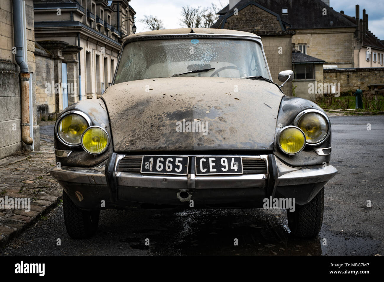 Citroën Car Classic 1964 French in need of restoration Stock Photo ...