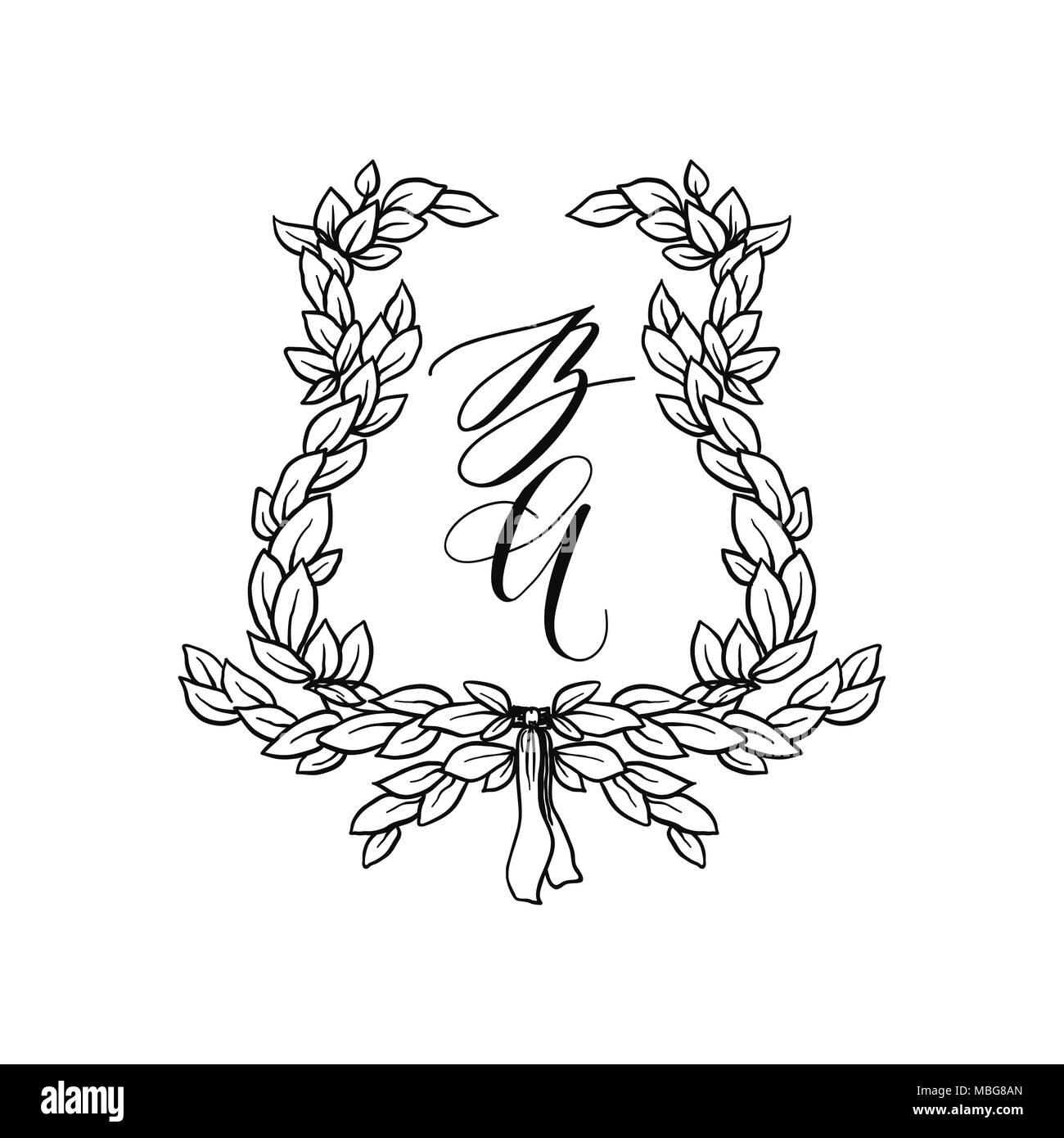 wedding stationery ornament Stock Vector Art & Illustration, Vector ...