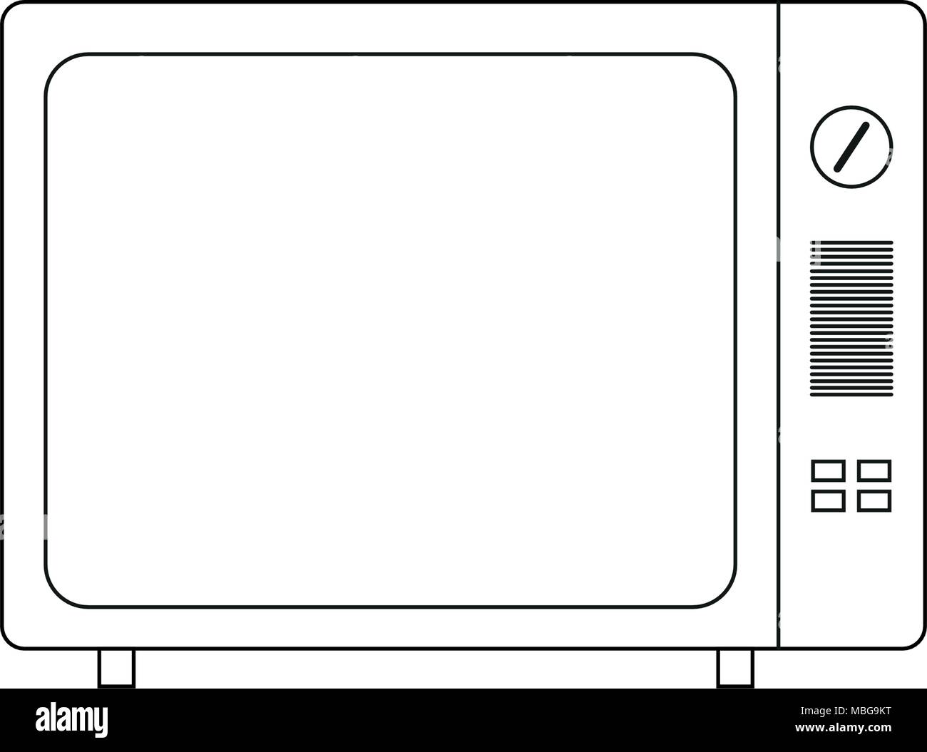 TV vector drawing. Flat style vector. Television icon, symbol isolated on white background, surface. - Stock Image