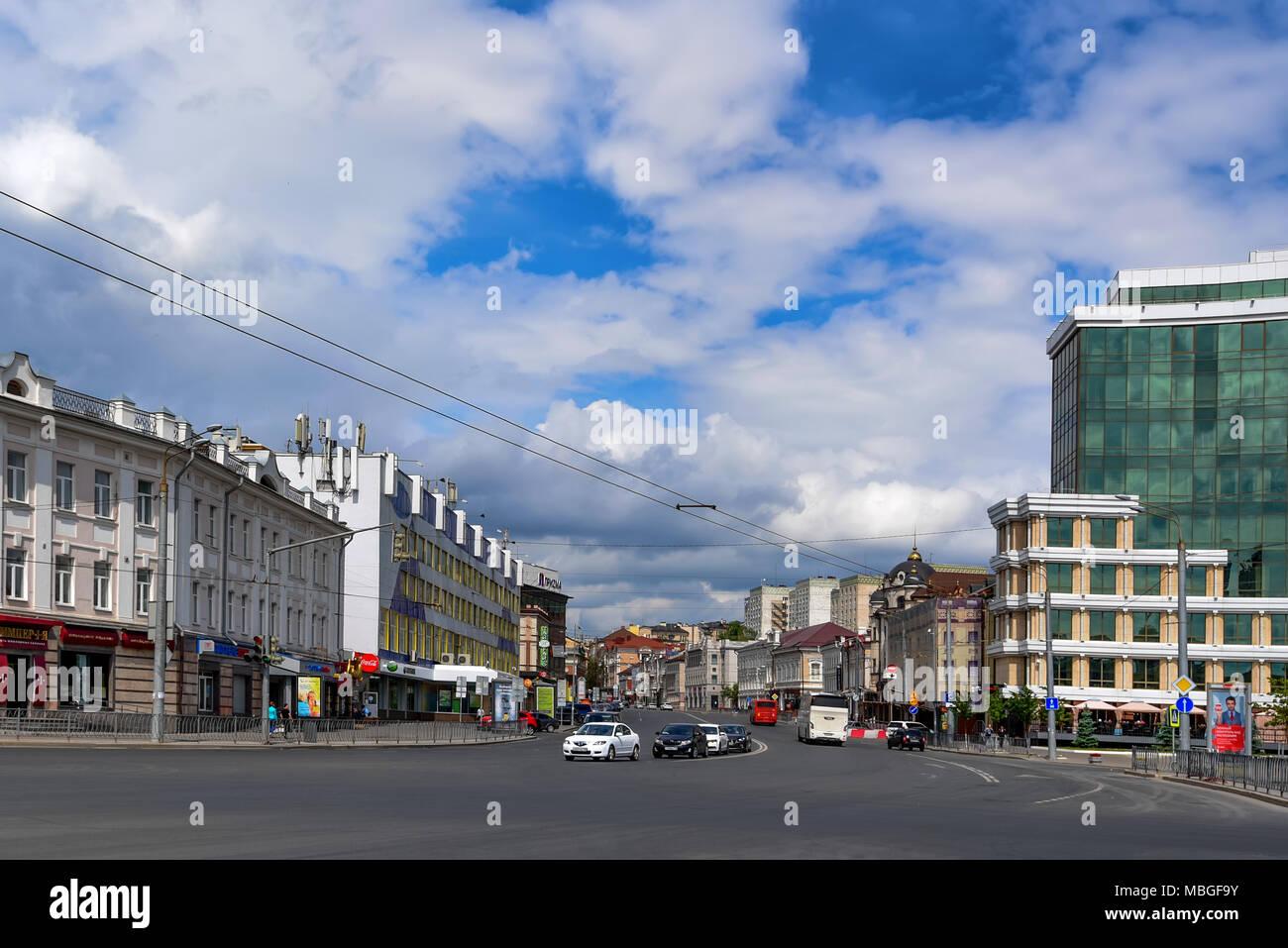 KAZAN, RUSSIA - JUNE 5, 2016: View of Kazan streets, Russia Stock Photo