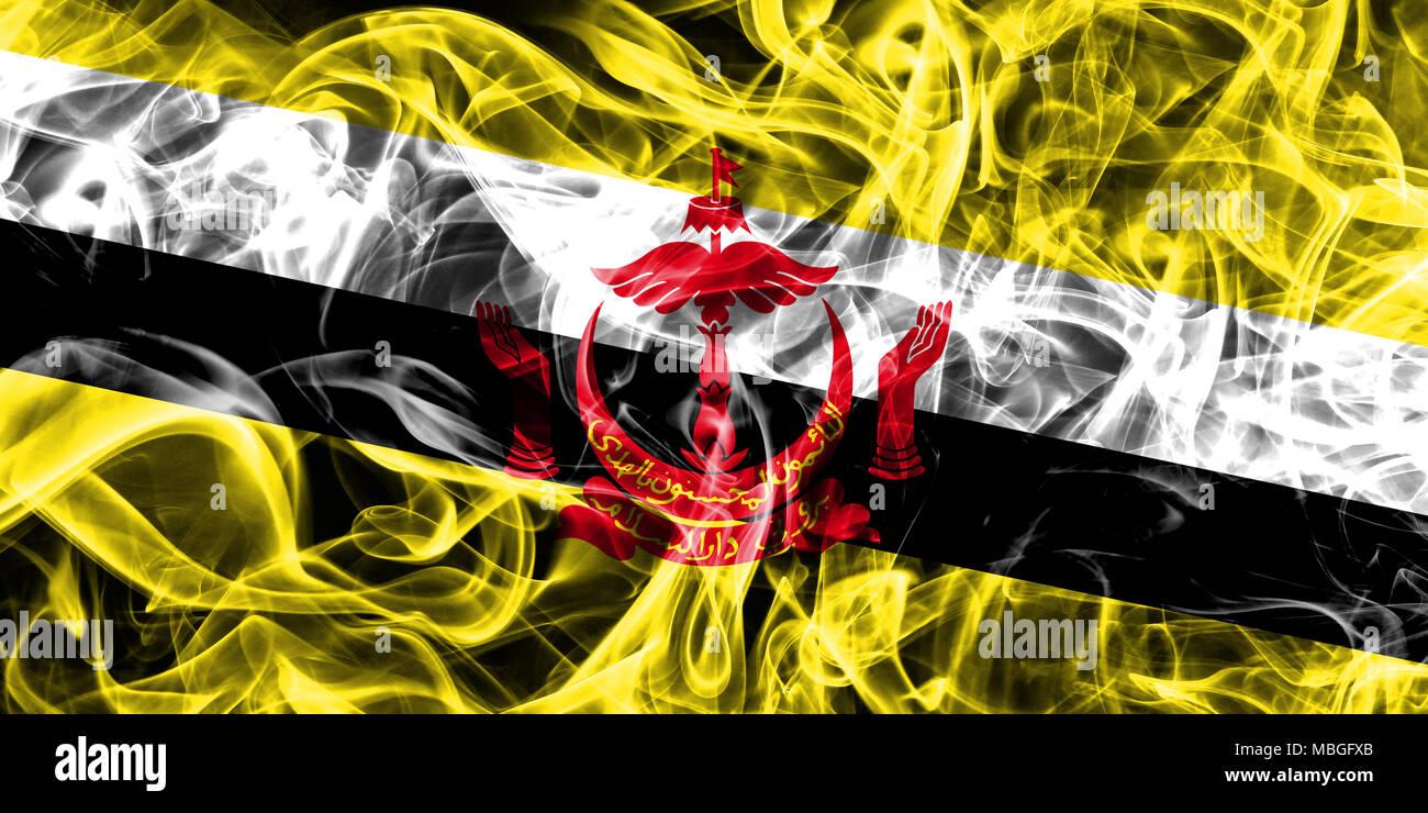 Brunei smoke flag - Stock Image