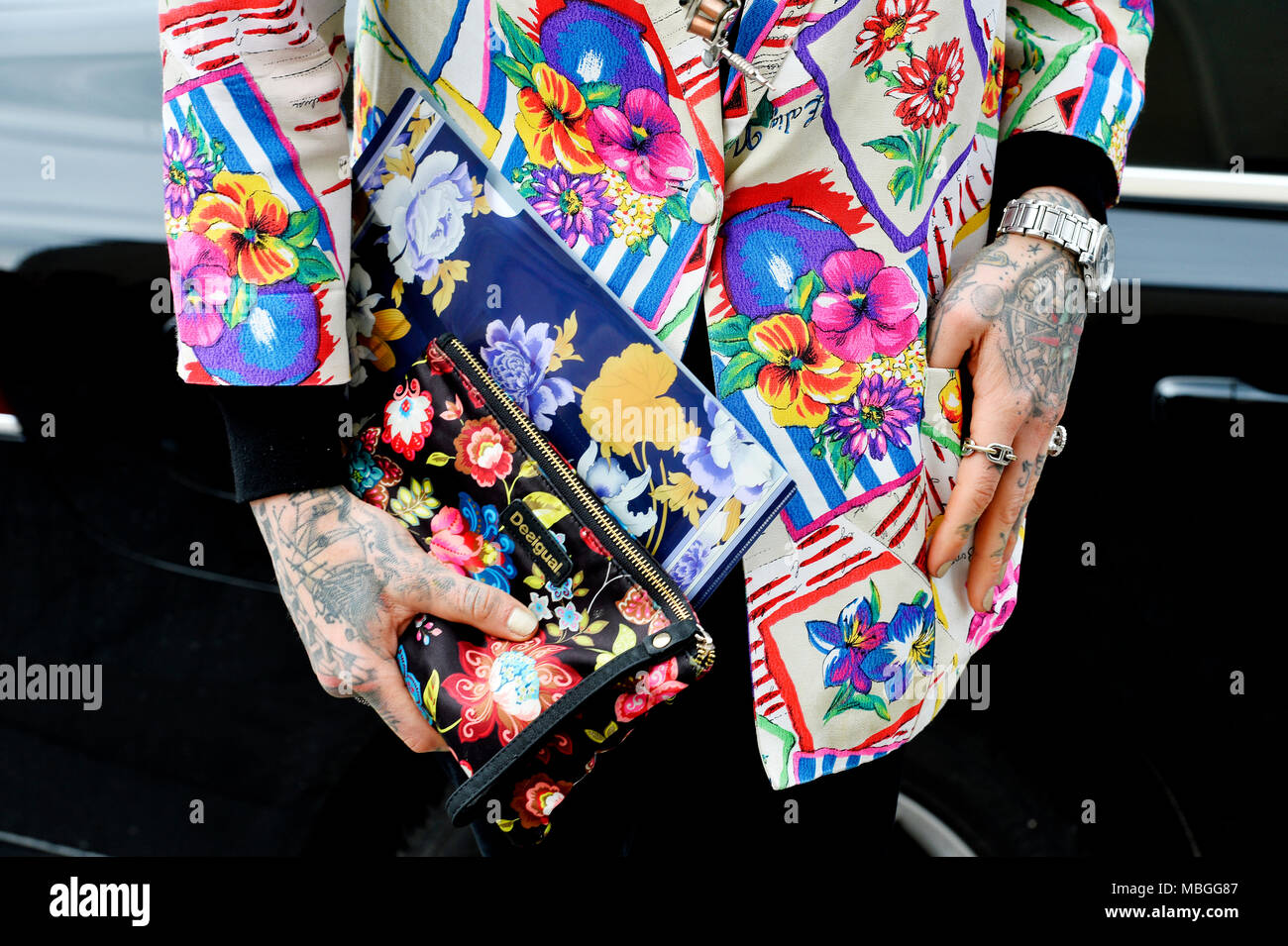 Chris Lavish -  Paris Fashion Week RTW FW 2018/2019 - Paris - France - Stock Image