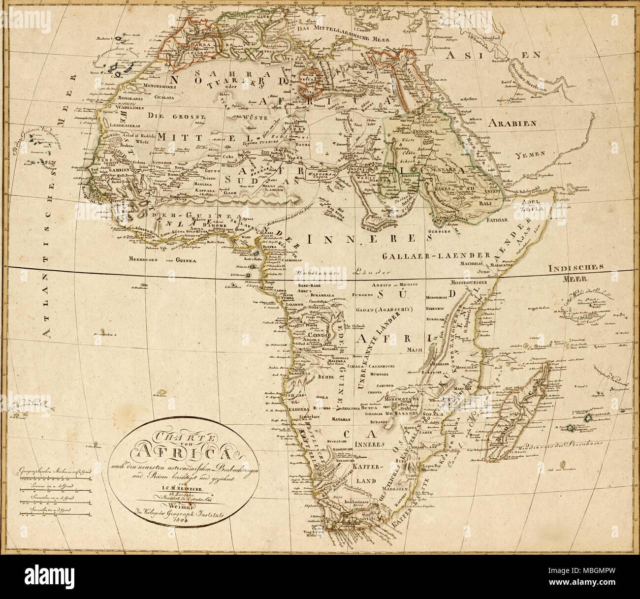Africa - 1804 - Stock Image