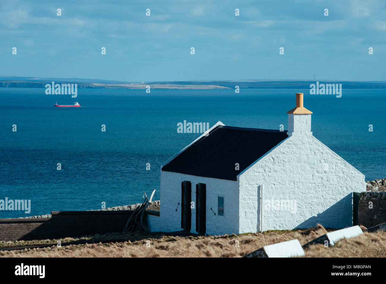 CAITHNESS, UK:  Dunnet Head, the most northerly point of mainland Britain. - Stock Image