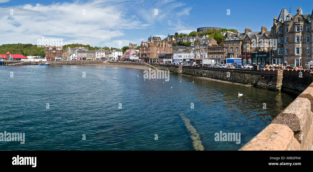 Oban quayside and harbour, Argyll and Bute, Scotland, UK - Stock Image