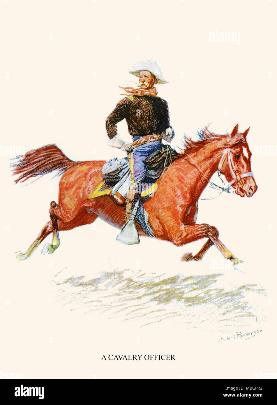A Cavalry Officer - Stock Image