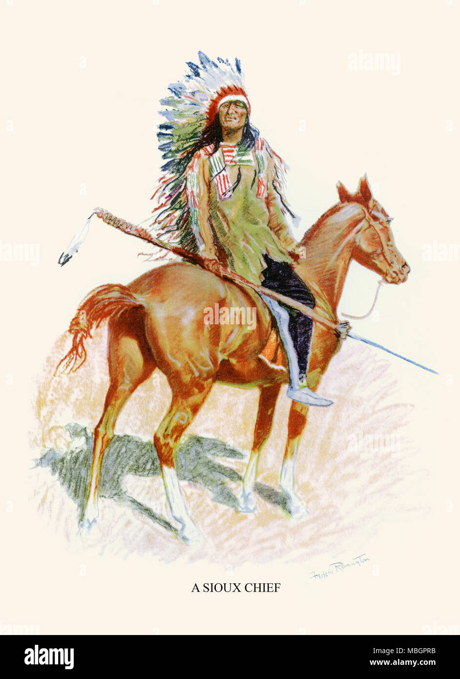 A Sioux Chief - Stock Image