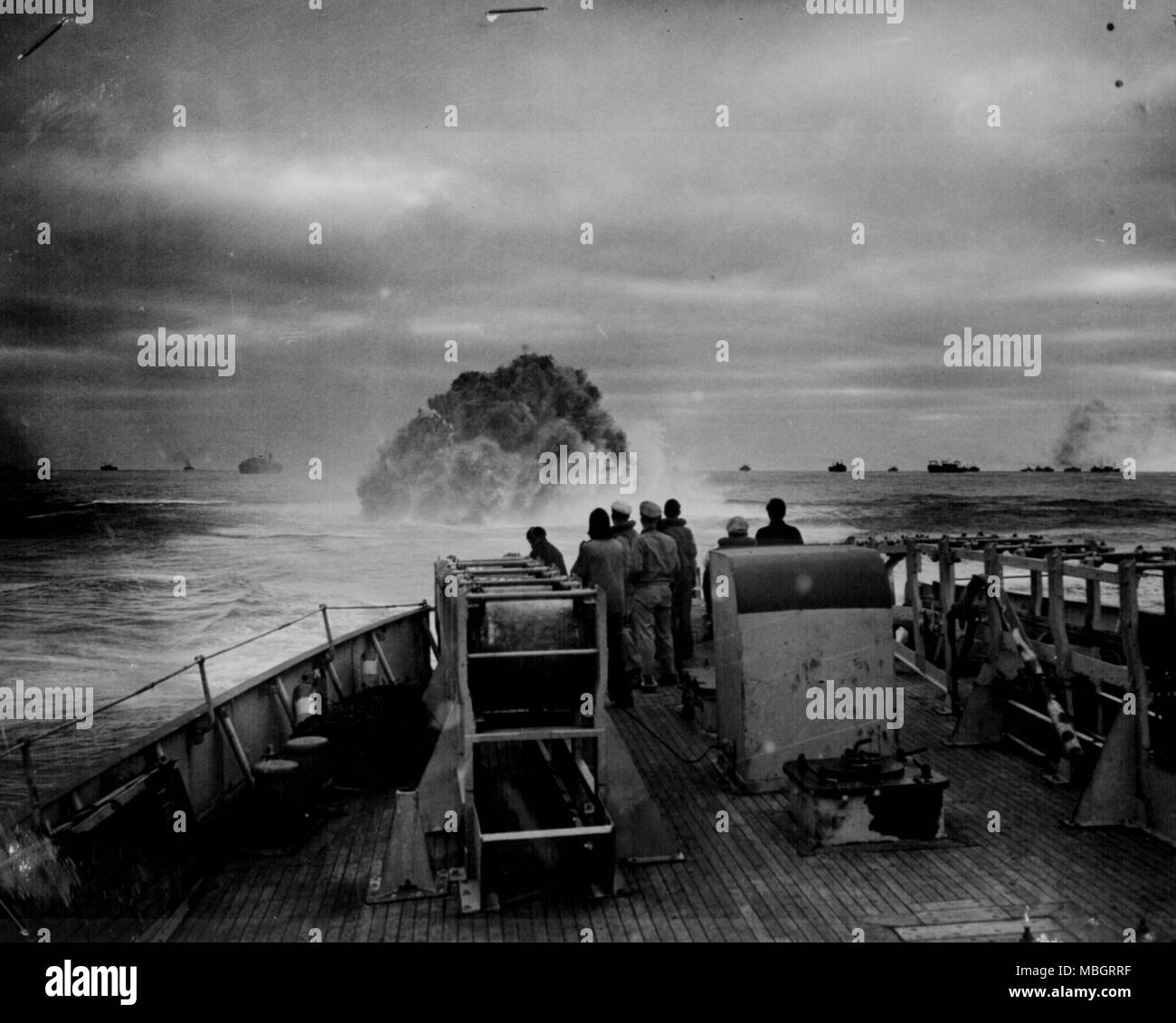 The Depth of Charges - Stock Image