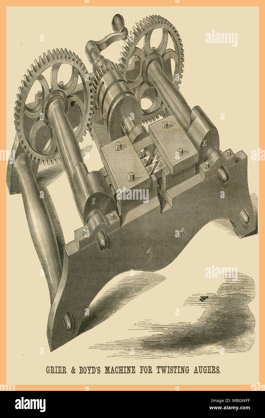 Grier & Boyd's Machine for Twisting Augurs - Stock Image