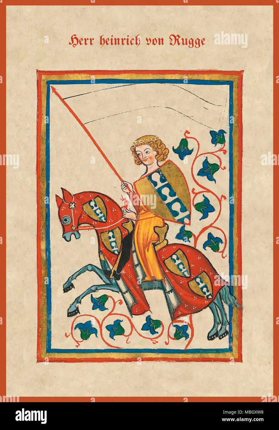 Herr heinrich von Rugge - Stock Image