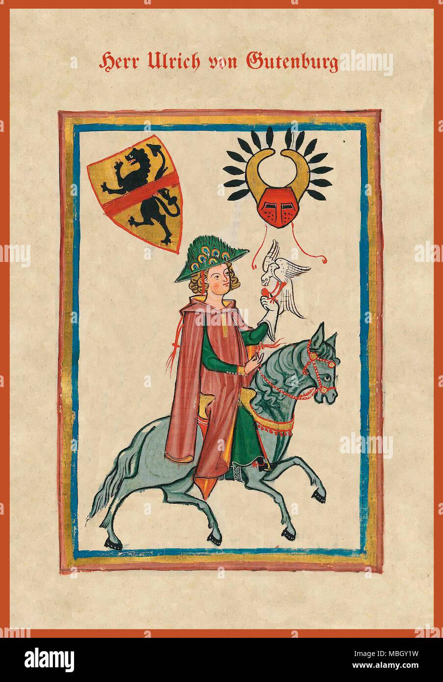 Herr Ulrich von Gutenburg - Stock Image