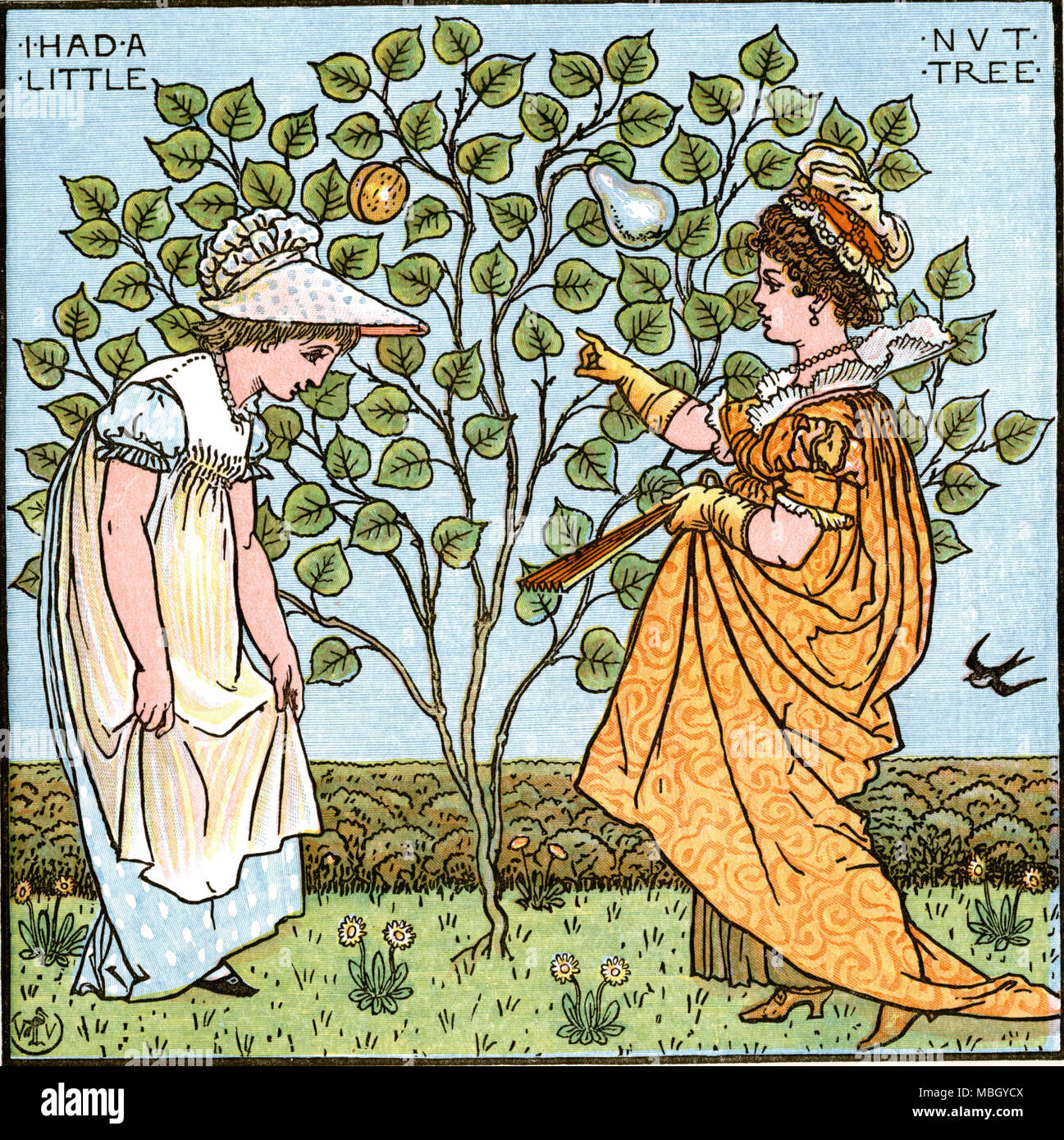 I Had a Little Nut Tree - Stock Image